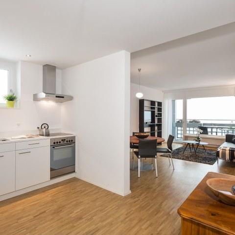 Küche und Wohnzimmer. Vergrösserte Ansicht